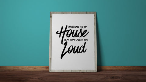 My House, Flo Rida, Welcome To My House, Wall Print, Lyric Art