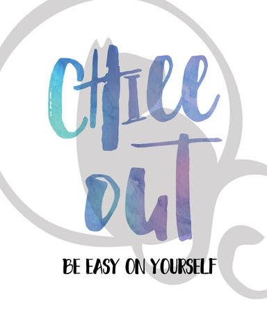 Chill out, Be easy on yourself, yo hello hoorray, USS, ubiquitous Synergy  Seeker lyrics, Wall Print, Instant Download