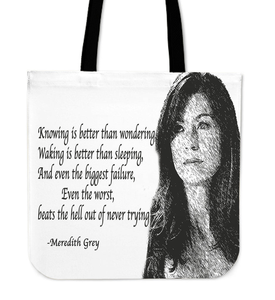Grey's Anatomy Meredith Grey Quote tote