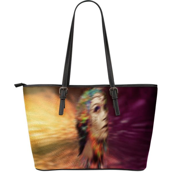 Thoughtful desires leather tote