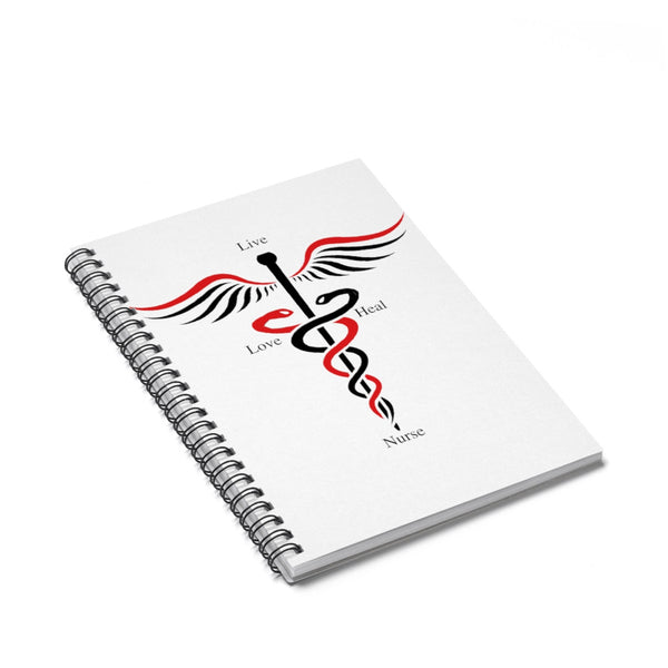 Live, Love, Nurse, Heal Red Spiral Notebook - Ruled Line