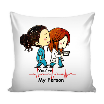 Cushion- Greys Anatomy-You're My Person-quote- Black-decor-meredith-fashionable-fans-tv show-nurse-doctor-gift-home-cover