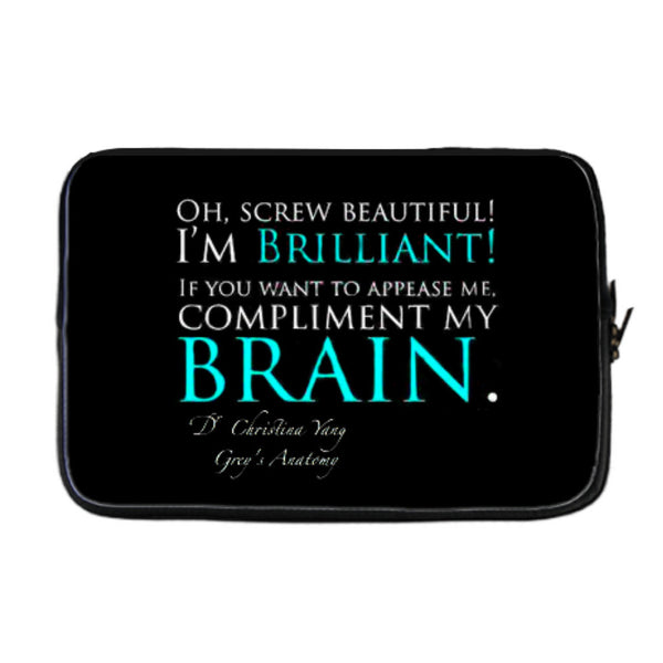 Cristina Yang quote blue laptop cover
