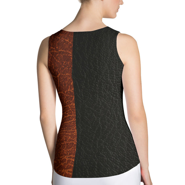 Dual Leather design Sublimation Cut & Sew Tank Top