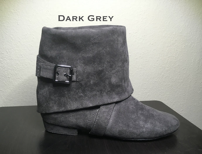 Aurora dance boot dark grey folded down