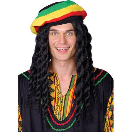 Rasta Man Wig with Hat