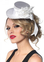 Leg Ave, Satin Top Hat, White