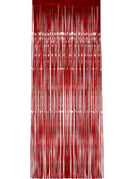 Shimmer Curtain Red