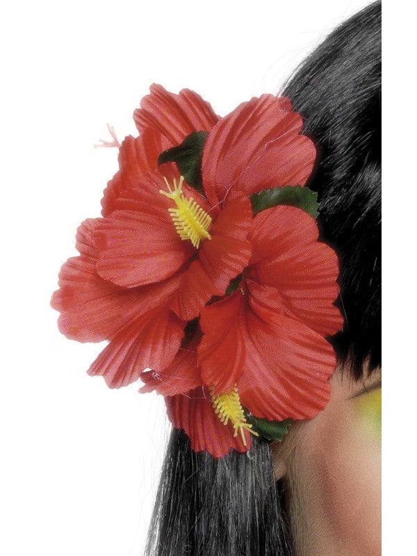 Hawaiian Hair Clip, Red