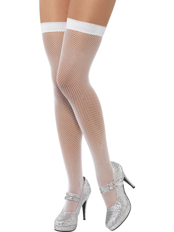 Stockings, Fishnet, White