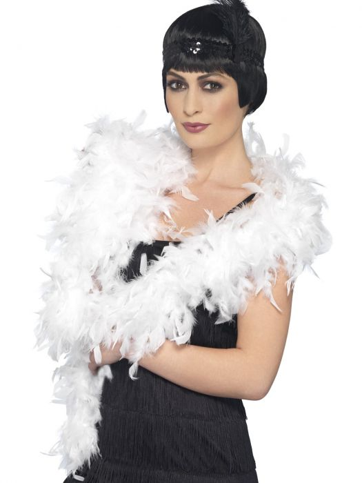 Feather Boa White, Deluxe