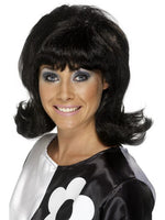 60's Flick Up Wig, Black