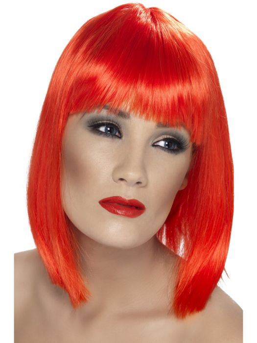 Glam Wig, Neon Red