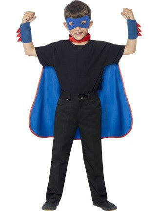 Cape Blue Super Hero Kit