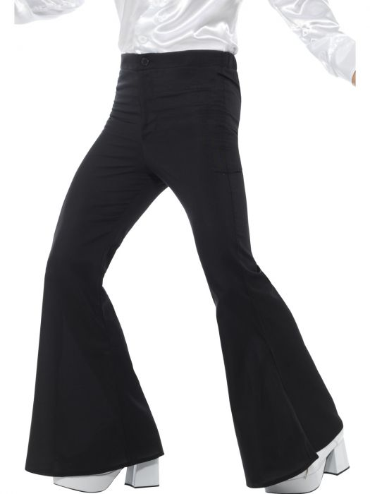 60's Flared Trousers, Black