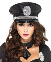 Sequin Cop Hat