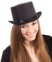 Satin Top Hat, Black