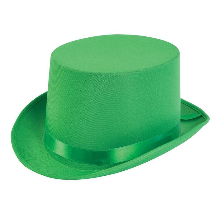 Satin Top Hat, Green