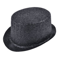 Glitter Top Hat, Black