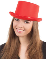 Satin Top Hat, Red