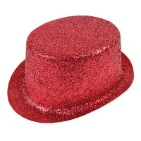 Glitter Top Hat, Red