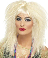 80's Crimp Wig, Blonde