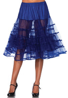 Knee Length Petticoat, Royal Blue