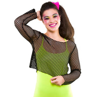 80's Fishnet Top, Black