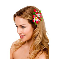 Hawaii Flower Hair Clip, Hot Pink