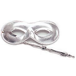 Silver Domino On Stick Eyemask
