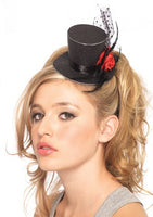 Leg Ave, Rose Petite Glitter Top Hat
