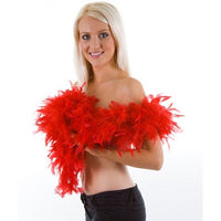 Boa, Feathered, Red