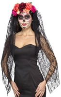 Day of The Dead Headband, Deluxe