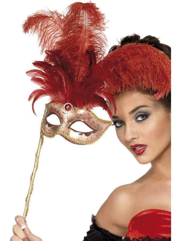 Baroque Fantasy Eyemask, Red