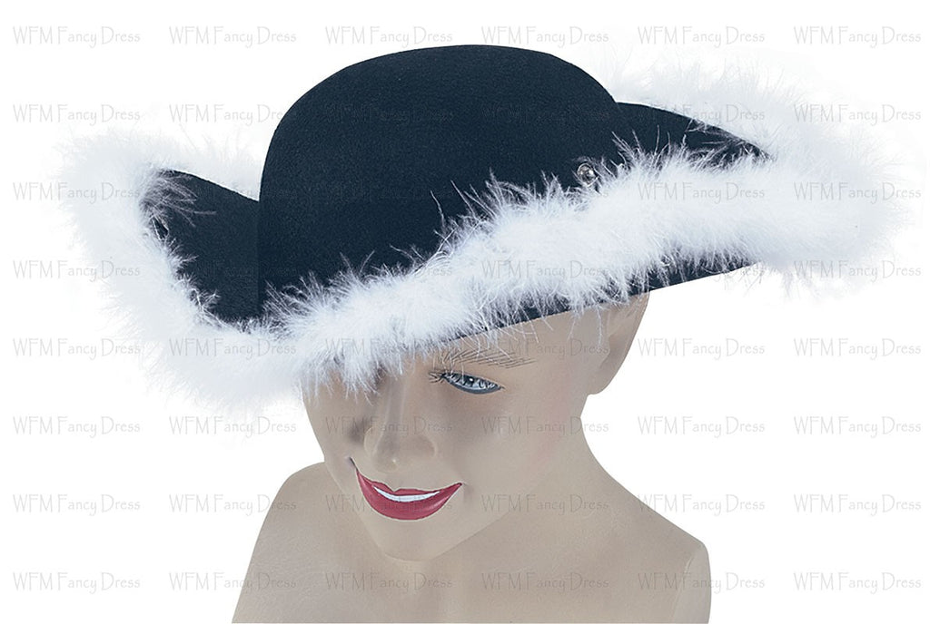 Tricorn Hat with Fur