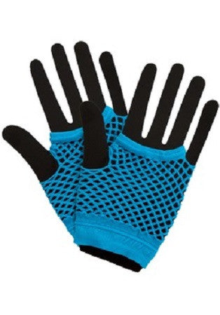 80's Net Gloves, Blue