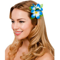 Hawaii Flower Hair Clip, Royal Blue