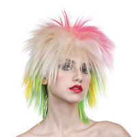 80s Multi-coloured Wig
