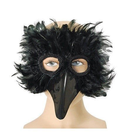 Bird Mask Black Feathers