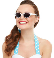 50's Sunglasses, White