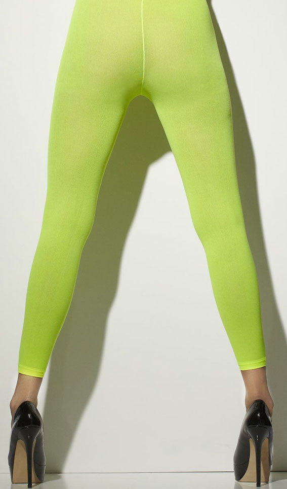 Opaque Tights, Neon Green