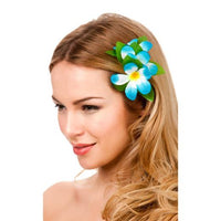 Hawaii Flower Hair Clip, Sky Blue