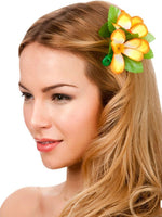 Hawaii Flower Hair Clip, Orange