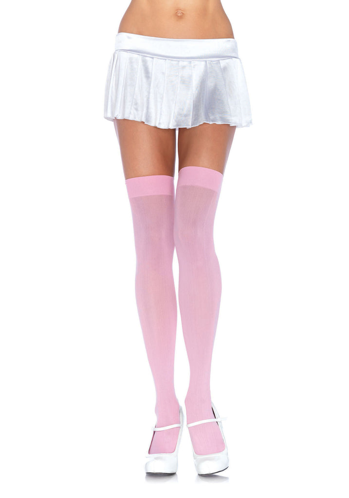 Nylon Thigh Highs, Light Pink