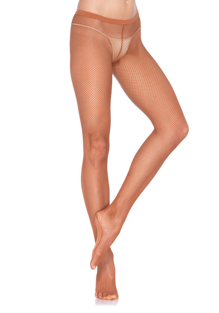 Pro Dance Tights, Fishnet, Suntan