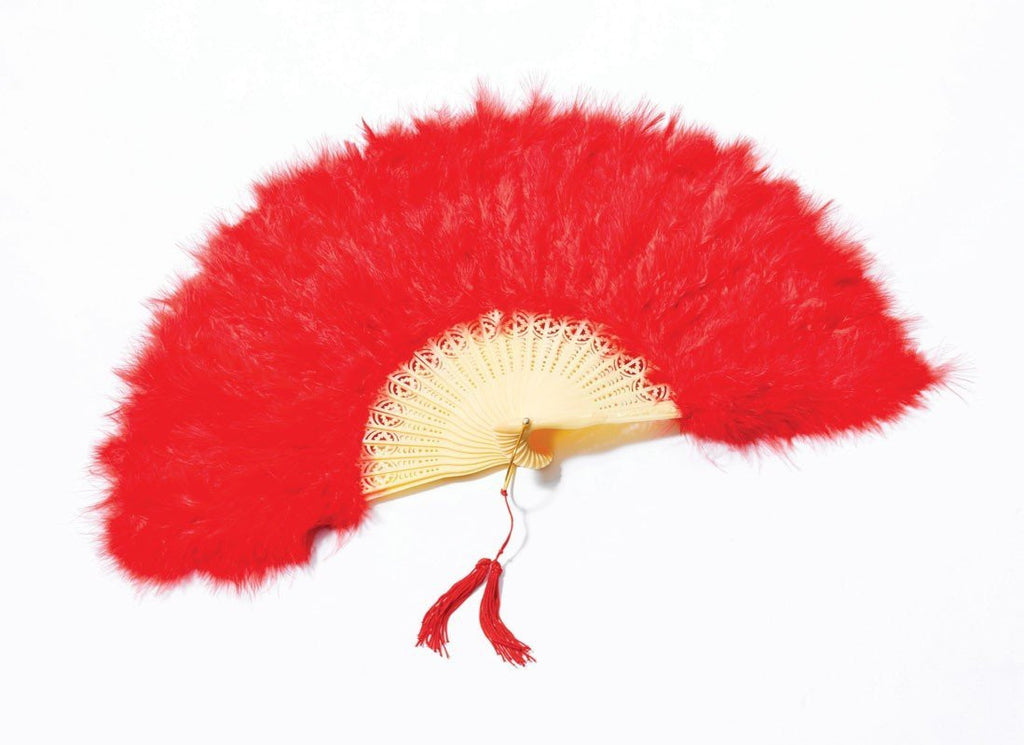 Fan, Feather Red
