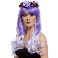 Flowered Glam Wig