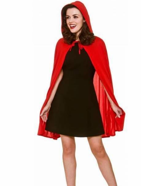 Cape, Red with Hood