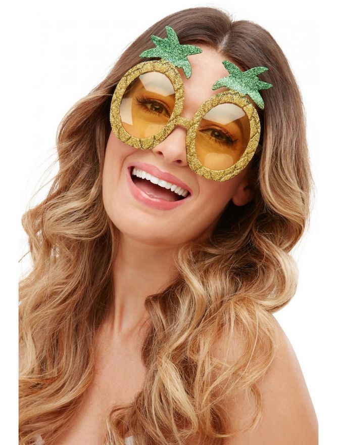 Pineapple Glitter Glasses