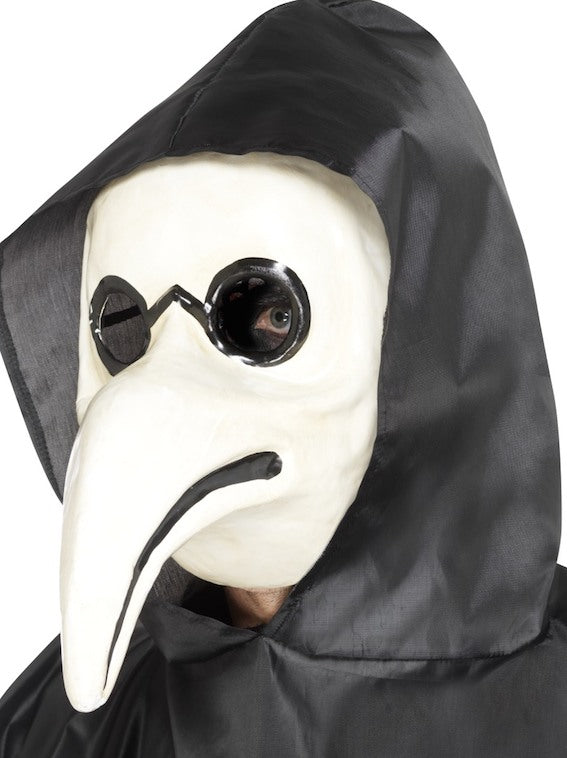 Authentic Plague Doctor Mask, White
